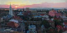 Sunset Charleston Steeples