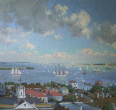 Tall Ships Leaving Charleston Harbor