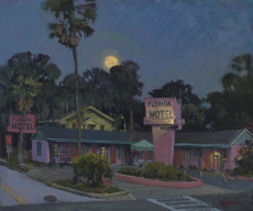 Florida Motel and the Super Moon