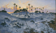 Winter Sunset On Dungeness Dune