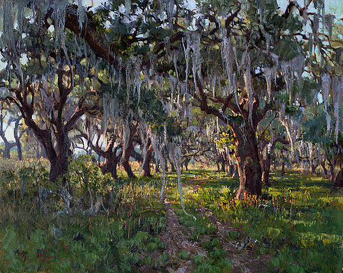 'The Road Less Traveled' Sheldon, S.C. 24 x 30 inches, oil on linen Finished product, from the field to the finish