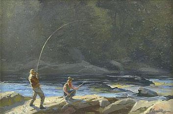 Ogden Pleissner, Angler and Guide, 1938