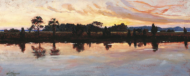 Bray's Island Pond  1994  Oil on linen